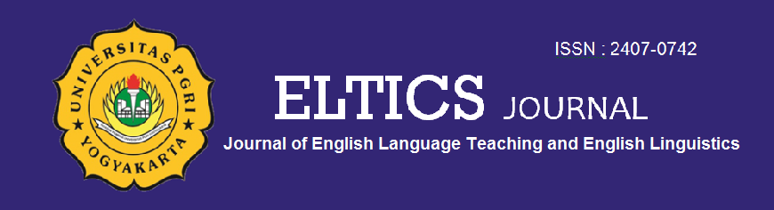 ELTICS : Journal of English Language Teaching and English Linguistics